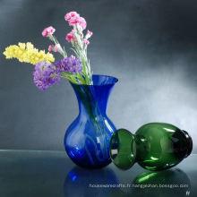 Vase en verre coloré pulvérisé
