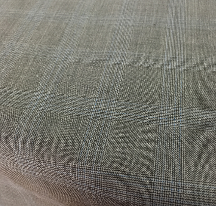 GREY CHECK WORSTED WOVEN FABRICS