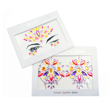 Chest Sticker Fashion 3d Women Jewels Flash Tattoo Face Stickers Temporary Tattoo Body Art Gem Stickers For Festival Party