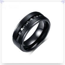 Lady Fashion anel de campainha de jóias de aço inoxidável (SR186)