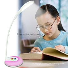 Lámpara de escritorio flexible recargable de LED con 256 colores vivos cambiantes (LTB715A)