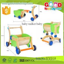 EN71/ASTM New Product Preschool Toddler Walking Frames Wooden Educational Baby Walker Baby