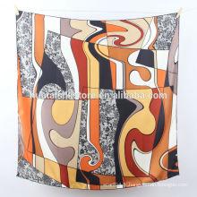 Imprimé à la main 100% foulards en soie manteau pashmina en gros