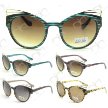 Fashion Metal Decoration Plastic Kids Sunglasses (LS176)