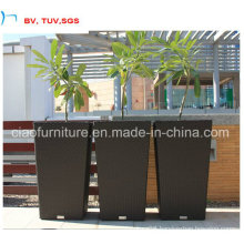 Rattan Weaving Flower Pot with Znic Coated Steel Pot Inside