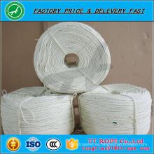 Cuerda blanca de alta calidad del cordón de la cuerda del sisal que blanquea 3ply