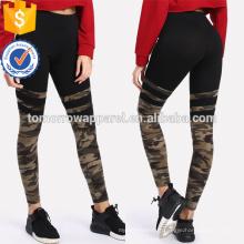 Camo Imprimer Varsity Leggings à rayures OEM / ODM Fabrication En Gros Mode Femmes Vêtements (TA7042L)