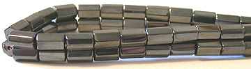 Hematite 6side Tube Beads 6X8MM