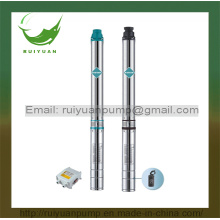 "3.5"" 90qjd 1HP Single/Three Phase Stainless Steel Submersible Borehole Pump for Deep Well (90QJD2-10/0.8KW)"