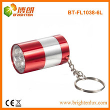 Factory Supply Small Pocket Size Aluminium 6 led mini led Flashlight Keychain