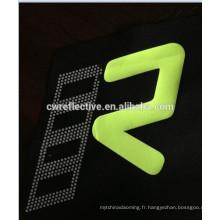 EN471 logo réfléchissant de transfert de chaleur personnalisé pour le vêtement