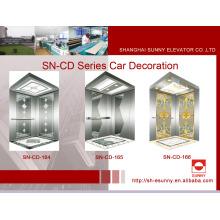 Cabine d'ascenseur avec plaque de gravure (SN-CD-164)