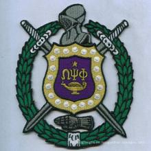 Esgrima símbolo parche tejido bordado insignias (GZHY-PATCH-015)