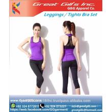 Low Price High Quality Print fitness sets Pants Add Bra Print fitness sets