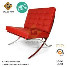 Chaise de réunion de Barcelone en cuir rouge (GV-BC02)