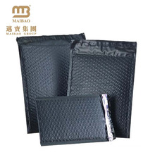 Strong self adhesive seal black color custom courier air wrap bubble bags