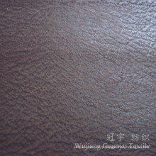 Hot Stamping Bronzed Microfiber Suede Leather Cloth for Home Textile