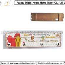 Hochwertige Eule MDF Plaque mit 4 Keramikhaken