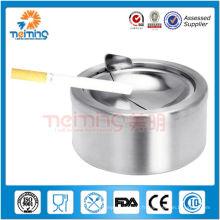 cendrier manuel en acier inoxydable de forme ronde