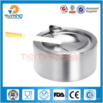 round shape manual stainless steel ashtray