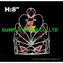 Corona de la tiara del oso del día de tarjeta del día de San Valentín