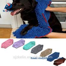 Toalla de mascota de felpa de microfibra de secado rápido de gran tamaño de primera calidad para lavar y secar