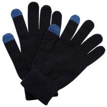 Mode schwarz Acryl gestrickte Touch Screen Magic Handschuhe (YKY5456)