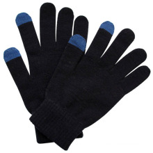 Fashion Black Acrylic Knitted Touch Screen Magic Gloves (YKY5456)