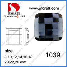 Crystal Glass Square Flat Back Stone for Decoration and Jewelry