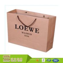 Großhandels-preiswertes kundenspezifisches Marken-Logo-Drucken-Luxuseinkaufen große Kraftpapier-Taschen-Verpackung
