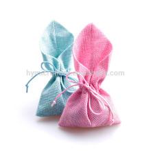 Nuevo diseño colorido bolso de lino personalizado para paquete de regalo