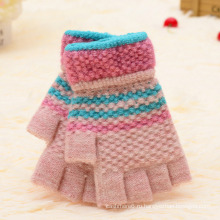 Женская Мода Зима Спорт На Открытом Воздухе Теплые Трикотажные Перчатки Без Пальцев
