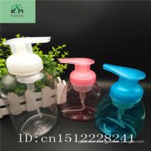 Botella de espuma de plástico PET color personalizado botella de espuma de la botella