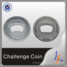 Monedas del abrebotellas de plata del metal 3D