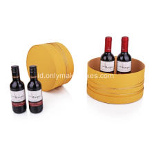 Kotak Wine Round Gift Gift Custom Packaging Grosir