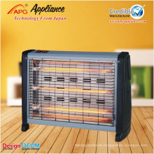 APG electric quartz glass tube heater with adjustable thermostat control and safety tip-over switch