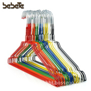 Pack of 20 High Quality Galvanised Steel Metal Coat Clothes Hangers With Plastic Coating In Mixed Colours 16 Inches Wide