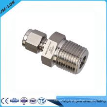 Conector do tubo de compressão de dupla virola