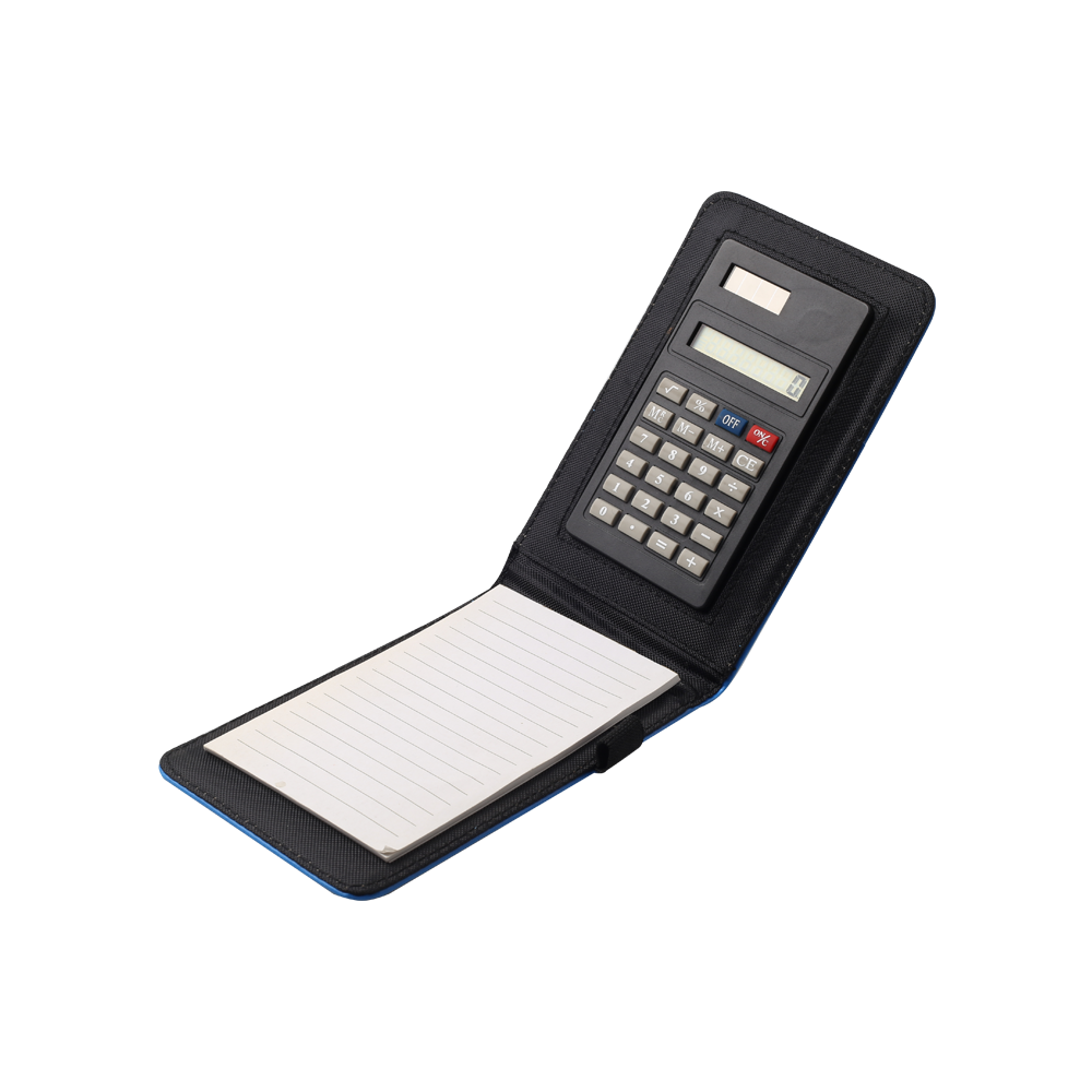 PU leather notebook note pad pocket calculator