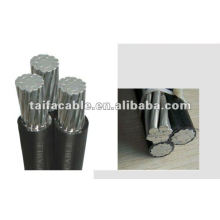 supply factory price of Aluminum Duplex service drop cable/ XLPE insulation, one Phase with neutral 0.6/1KV