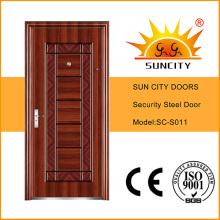 Diseño de seguridad de puerta de metal de seguridad exterior (SC-S011)