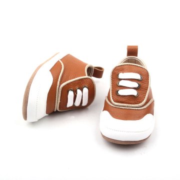 Lembu Bayi lembut Sole Leather Baby Toddler Shoes