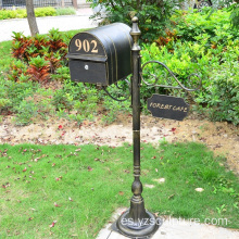 Royal Garden Antique Bronze Mailbox Statue for Sale
