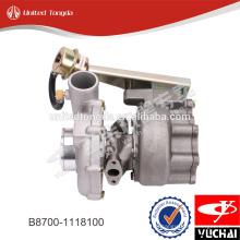 Suppercharger motor original YC6108ZC, turbo cargador B8700-1118100