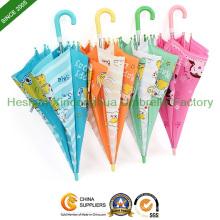 Qualität Kinder Regenschirm Sicherheit Kinder Regenschirm mit niedlichen Cartoon (KID-1019ZF)