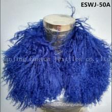 Long Pile Natural Mongolian Fur Scarf Eswj-50A