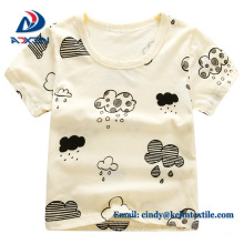 Cute animal cartoon 100% cotton summer children t shirt