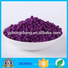 Materiales comunes de adsorción química Adsorbente de dióxido de azufre Permanganato de potasio Impregnado Bola de alúmina activada