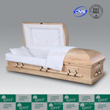 Caixão LUXES vendas estilo americano país pinho madeira caixão para cremação