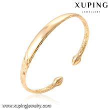 51575 Xuping nuevo diseño al por mayor 18k oro brazaletes del bebé